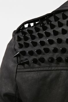 Spiked Moto Jacket - Inspiration for a #DIY project for this fall...! -G*