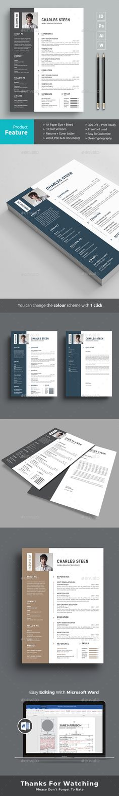 Resume - #Resumes Stationery Download Here    graphicriver - resume download in word