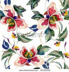 Decorative seamless pattern by svemar, via Shutterstock
