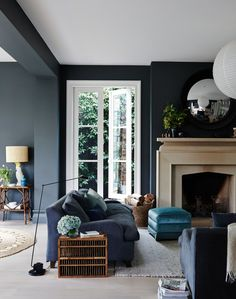 Perfect Navy Blue Living Room with Best 25 Navy Living Rooms Ideas On Home Decor Navy Blue Living 16264 is one of photos of Living Room ideas for your hous Cream Living Rooms, Grey Walls Living Room, Navy Blue Living Room, Living Room With Fireplace, Living Room Paint, Living Room Furniture, Living Room Decor, Living Area, Living Etc