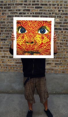 Stinkfish, Savage Gaze 4-color screen print, for sale at Vertical Gallery #stinkfish #verticalgallery #savagegaze