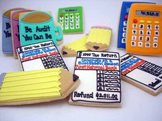 Audit themed cookies for auditor friends LOL ---------- Flour Box Bakery — Be Audit You Can Be