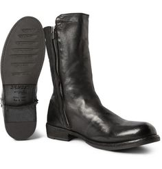 Officine CreativeIkon Shearling-Lined Washed-Leather Boots