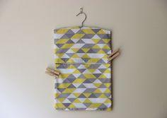 geometric clothespin bag