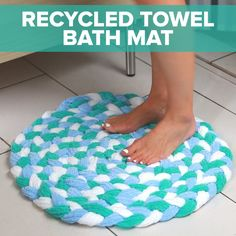 Turn Old Towels Into A Soft, Sophisticated Bath Mat