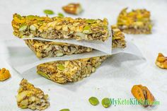 Here's an easy recipe for our Low Carb Cinnamon Granola Bars. They're…
