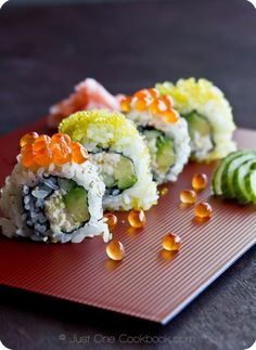 California Roll Recipe | Picture Tutoruial ~ JustOneCookbook.com