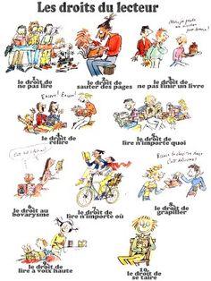 """L'univers de ma classe: A propos du """"reading workshop""""...  les droits du lecteur"""