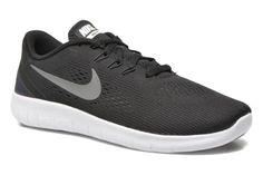 Nike Free Rn (Gs) Black/Metallic Silver-Anthrct