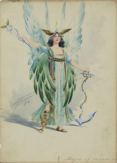 Costume designs for Dick Whittington  Watercolour and pencil on card United kingdom 1908 Museum no. 89/1202