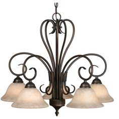 Alcott Hill Gaines 5 Light Shaded Chandelier Finish: Rubbed Bronze