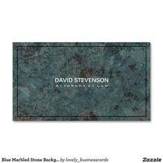 Blue Marbled Stone Background Standard Business Card #businesscard #marbled #lawyer #businessmen #businessowner #attorney #lawfirm #entrepreneur