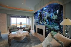 Aquarium over Fireplace