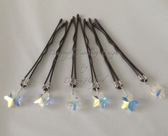 Bobby pins Swarovski crystal stars heart by DragonflyWeddings, £14.00