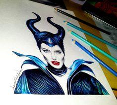 Maleficent - Angelina Jolie by lancelotmilitar