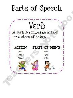 Mnemonics: Poem: Parts of speech. LOVE THIS...TEACH IT TO