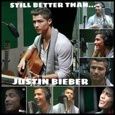 Christiano Ronaldo CR7 singing :) #HalaMadrid