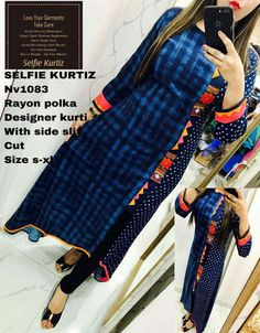 Stylish Kurtis, Fancy Kurti, Suits For Women, Clothes For Women, Kurti Styles, New Kurti, Kurti Patterns, Kurtis Tops, Fashion Sewing
