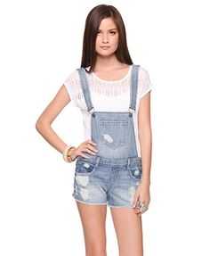 2582f127626ec2 Destroyed Denim Overall Short - StyleSays Weekend Outfit