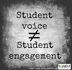 Adam Fletcher explains why student voice and student engagement ARE NOT the same things.