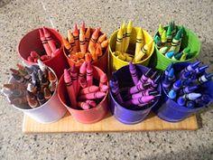 DIY Crayon Organization