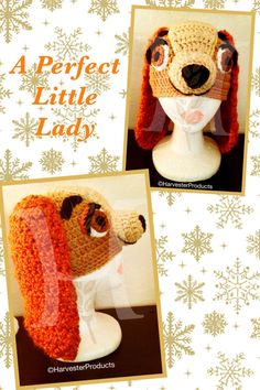 Disney Lady and the Tramp LADY styled crochet by HarvesterProducts, $70.00