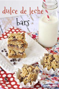 dulce de leche bars from yourhomebasedmom.com
