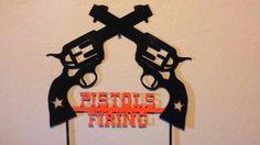 OSU Pistols Firing Oklahoma state cowboys plasma metal wall art, yard art.. $20.00, via Etsy.