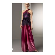 Marc Bouwer Glamit! Beaded Ombré Gown found on Polyvore