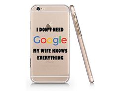 """My Wife Knows Everything"" Transparent Plastic Phone Case..."