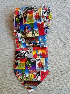 Looney Tunes Men's neck tie Tweety Bird Bugs Bunny Porky Pig Marvin the Martian #LooneyTunes #Tie