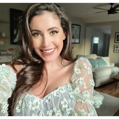 """Anna Paulina Luna is an American politician, author, host of """"Luna Talks"""" podcast, and Chief Correspondent for the publication El American. She is running for Congress. Politicians, Net Worth, Anna, Ruffle Blouse, American, Wedding Dresses, Lace, Author, Running"""