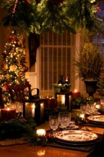 Christmas Party Decoration Ideas...a Holiday Table