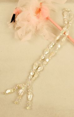 """Fresh Water Pearls & Crystals  Length: 24""""  Bead Size: Pearls 16mm & 10mm, Crystals 8mm"""