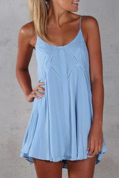 This Dress is perfect for everyday wear but can also be dressed up for a cute ni. 2019 - and white summer dress casual blue casual dress summer blue summer dress casual casual blue dress - blue dress casual - Summer Blue Dresses 2019 Look Fashion, Fashion Outfits, Womens Fashion, Fashion 2015, Fashion Clothes, Woman Outfits, Stylish Clothes, Vogue Fashion, Latest Fashion