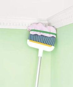 Broom as Long Distance Duster | More hidden tricks to get your house sparkling in record time.