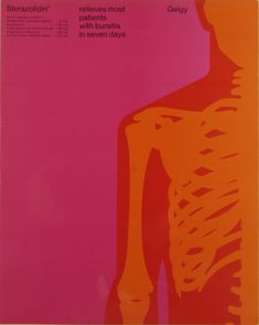 Fred Troller, artwork for medical drug Sterazolidin, Geigy, Switzerland. Via RIT Library Graphic Prints, Graphic Art, Graphic Design, Illustrations, Graphic Illustration, International Typographic Style, Medical Posters, Identity, Composition