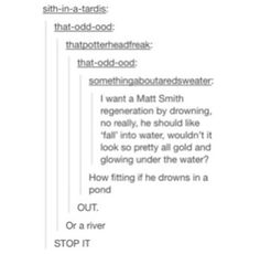 Things that are not okay: this post // AUGH!! ...Wait... the lake... the astronaut... O.O // No. There are some things that should not be thought, and everything above belongs in that category.