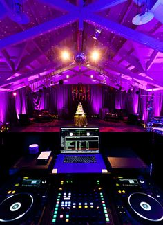 Wedding at Meadowood Resort. Lighting Design by Got Light. Event Design by Sasha Souza Events. Purple event lighting.