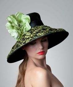 2eb942c5dd7 Couture Derby Hat by ArturoRios on Etsy