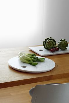 Solid marble cutting boards.
