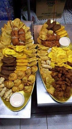 Picadera , a platter full of mini version of puertorican fritters. Puertoricans served as appetizers or snacks in parties , get togethers,  weddings ... any event.