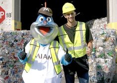 """#ICTMI: Fun times hosting @Marlins pitcher @srSHREK31 and """"Billy the Marlin"""" at our Reuter Recycling Facility."""