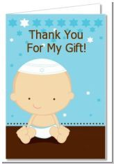 If you are Jewish then this a super cute thank you card for a baby shower for having a baby boy :)