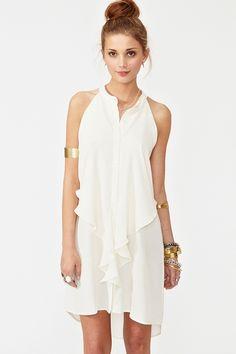 Cielo Ruffle Dress by Plastic Island $108  #NastyGal