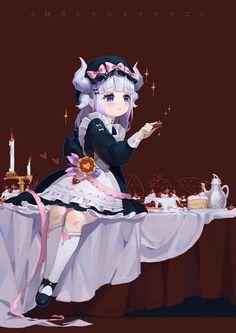 Kobayashi-san Chi no Maid Dragon, Kanna Kamui (Kobayashi-san Chi no Maid Dragon) HD wallpaper Dragon Girl, Miss Kobayashi's Dragon Maid, Baby Dragon, Kawaii Chibi, Kawaii Cute, Kawaii Anime, Cute Anime Pics, I Love Anime, Maid Dragon Kanna