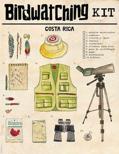 Birdwatching Costa Rica on Behance