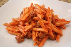 Simply Sammie: Penne in Sausage Sauce