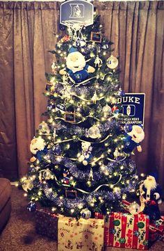 Duke Christmas Tree Christmas Ideas, Christmas Decorations, Christmas Tree, Holiday Decor, Duke Players, Acc Teams, Cameron Crazies, Duke Vs, Ryan Lee