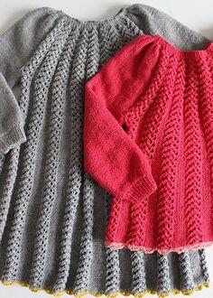 Image of Vega (kjole og bluse) Knitting Patterns Free, Free Pattern, Knitting For Kids, Knit Dress, Vegas, Maternity, Pullover, Children, Crochet